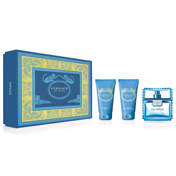 Versace Man Eau Fraiche 50ml EDT 3 Piece Gift Set