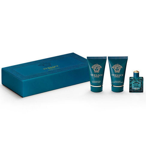 Versace Eros by Versace 5ml EDT 3 Piece Gift Set