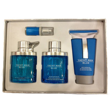 Yacht Man Blue by Myrurgia 100ml EDT 4 Piece Gift Set