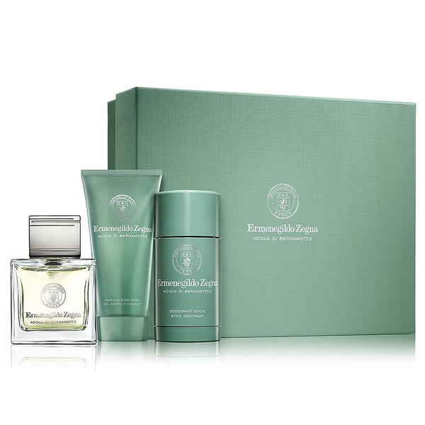 Acqua Di Bergamotto by Ermenegildo Zegna 100ml EDT 3pc Gift Set