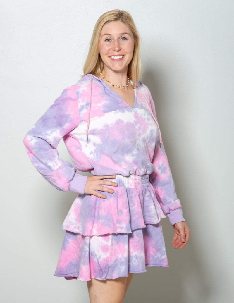 Aubrey Grace Boutique Happy Day Purple & Pink Pullover