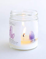 Amethyst Crystal Candle - Aubrey Grace, LLC