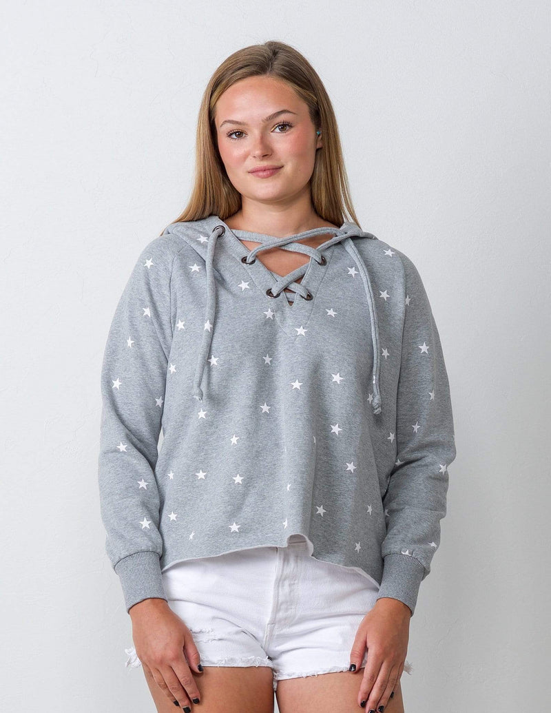 Born a Star Grey Sweatshirt - Aubrey Grace, LLC