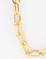 Grande Barbell Chain Link Necklace - Aubrey Grace, LLC