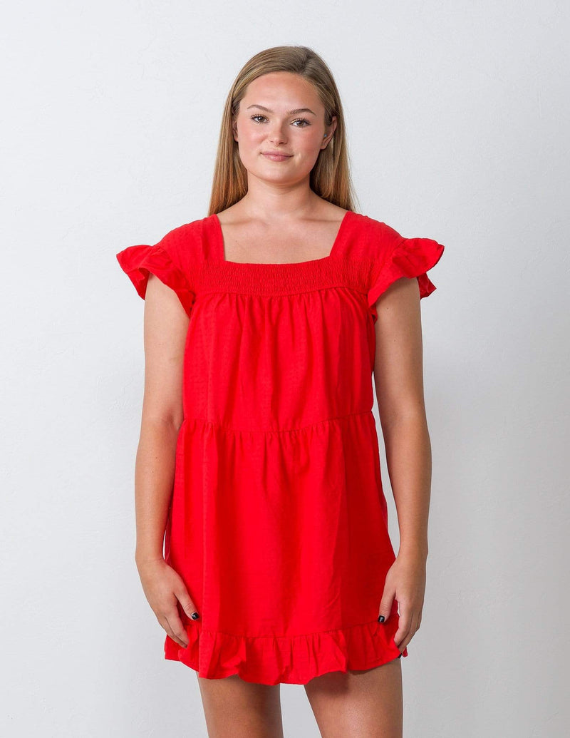 Red Fairytale Baby Doll Dress - Aubrey Grace, LLC
