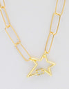 Star Clasp Link Necklace - Aubrey Grace, LLC