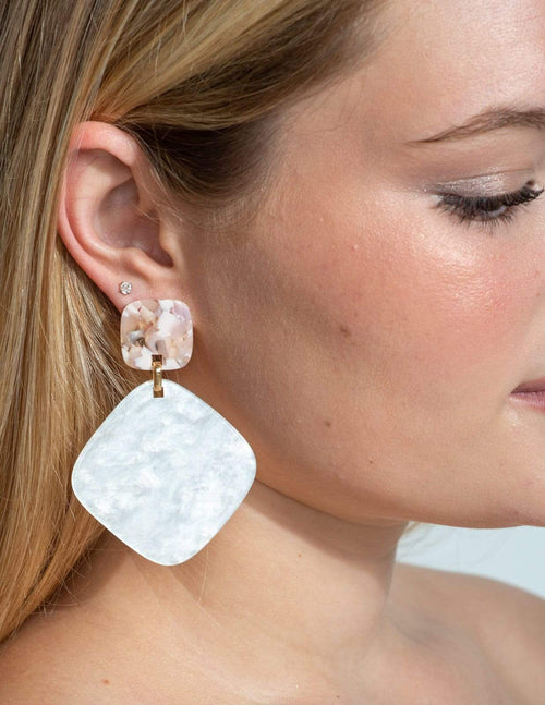 Sweet Cream Earrings - Aubrey Grace, LLC