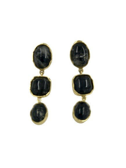 GOOSSENS PARIS | TRIPLE CABOCHON Earring
