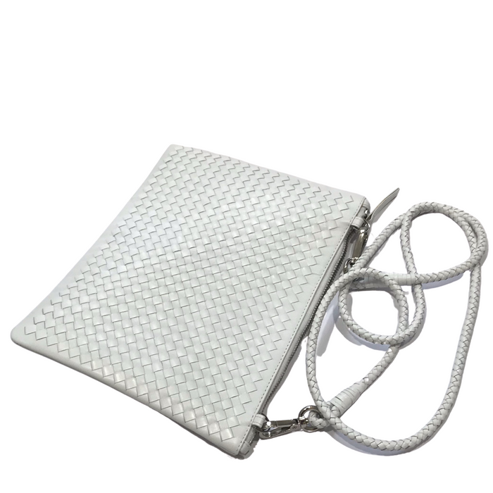CHRISTINE | White Single Pouch Bag