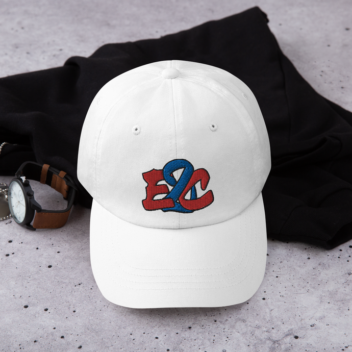 E2C White Dad hat
