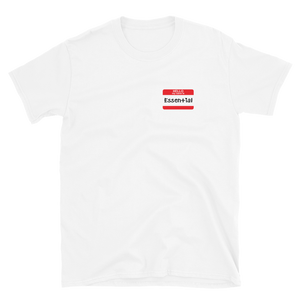 Name Tag: Essential T-Shirt (Black or White)