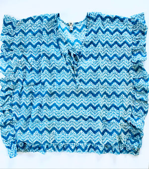 blue ocean beach poncho