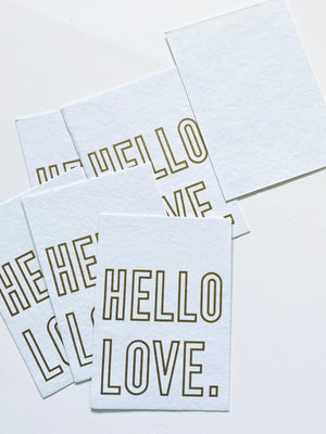 HELLO LOVE postcard set
