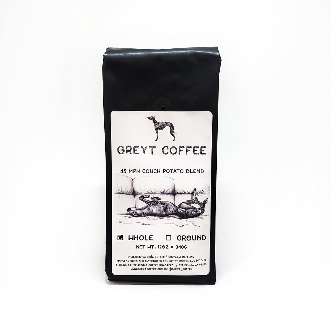 Greyt Coffee - 45mph Couch Potato Decaf Blend