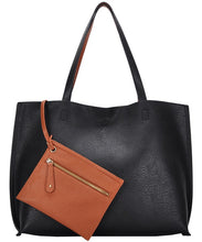 Load image into Gallery viewer, Vegan leather tote (2 colors)