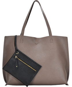 Vegan leather tote (2 colors)