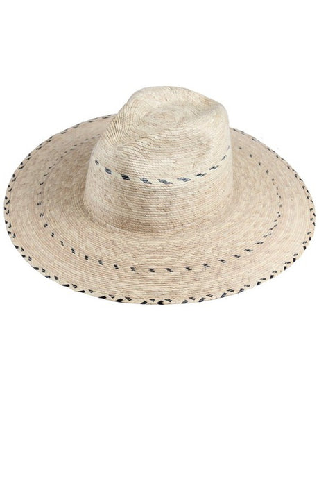 black textured Panama hat