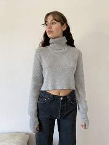 grey rib sweater