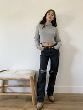 Load image into Gallery viewer, grey rib sweater