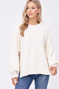 cream cable sweater