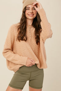 Blush Button Pullover