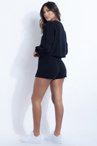 laura black lounge shorts