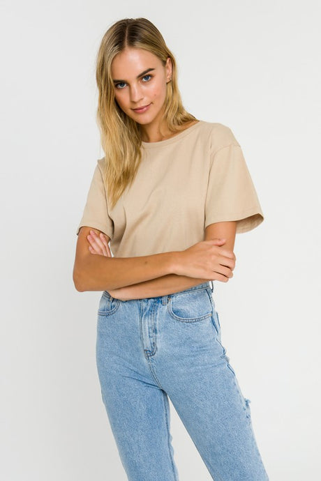 basic round neck tee (2 colors)