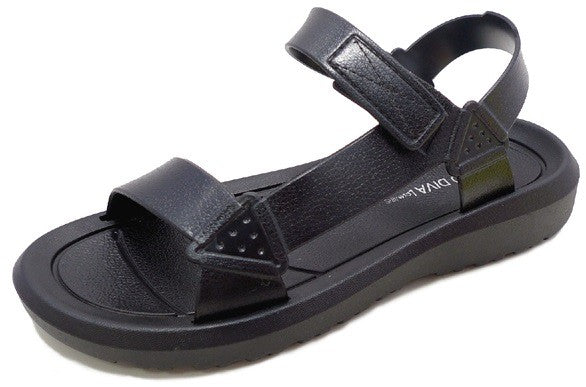 black harness sandal