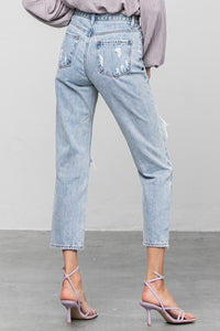 distressed girlfriend jeans