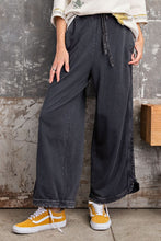 Load image into Gallery viewer, Mineral Wash Wide Leg Pants (2 Colors)