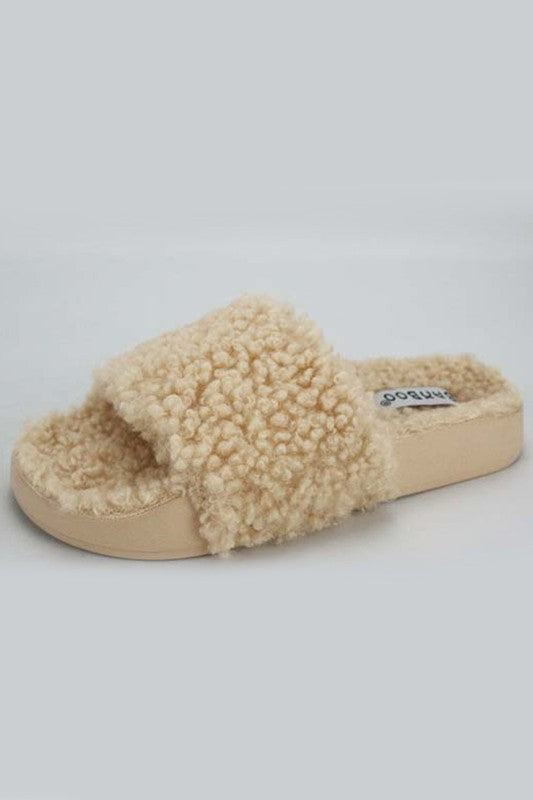 Natural Sherpa Slipper