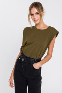SALE Olive Bold Shoulder Tank