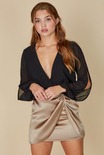 Load image into Gallery viewer, satin gather wrap skirt (2 colors)