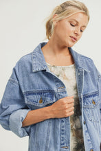 Load image into Gallery viewer, boxy denim dolman jacket