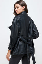 Load image into Gallery viewer, oversized leather jacket
