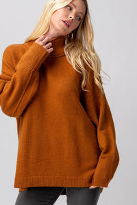 dark dijon turtleneck sweater