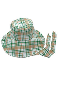 Green Plaid Bucket Hat