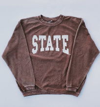 Load image into Gallery viewer, STATE Logo Ribbed Sweatshirt (Maroon)