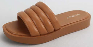 Tan Puff Sandal