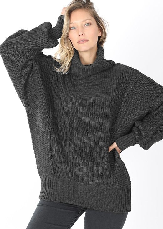 charcoal chunky sweater