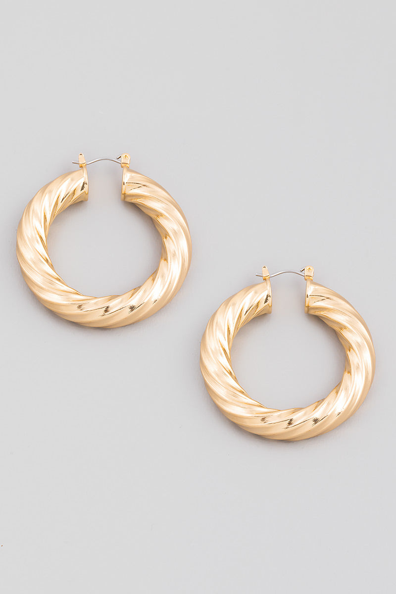 Tube Twist Latch Hoops