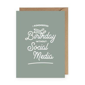 birthday without social media card