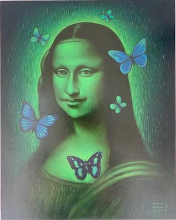 Glow in the Dark Mona