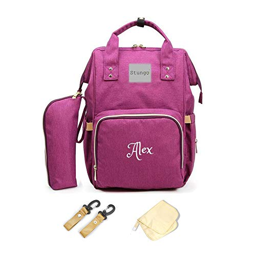 PERSONALIZED Large Diaper Bag Knapsack Custom Monogram Backpack