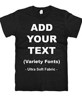 Custom T Shirts Ultra Soft Add Your Text for Men & Women Unisex Cotton T Shirt