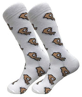 Balanced Co. Circle Game Meme Dress Socks Funny Socks Crazy Socks Casual Cotton Crew Socks