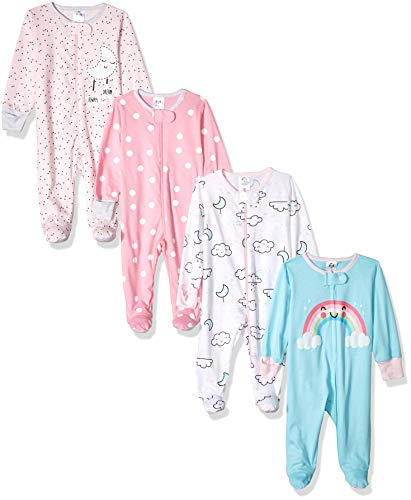 GERBER Baby Girls' 4-Pack Sleep N' Play