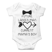 CBTwear Future Ladies Man Current Mama's Boy Funny Romper Cute Novelty Infant One-Piece Baby Bodysuit