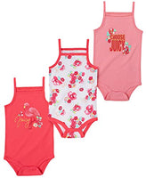Juicy Couture Baby Girls' 3 Pieces Pack Bodysuits