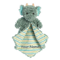 Ebba Personalized Sammie Sloth Luvster Plush Blanket for Baby Boy or Baby Girl with Custom Name - 14 Inches